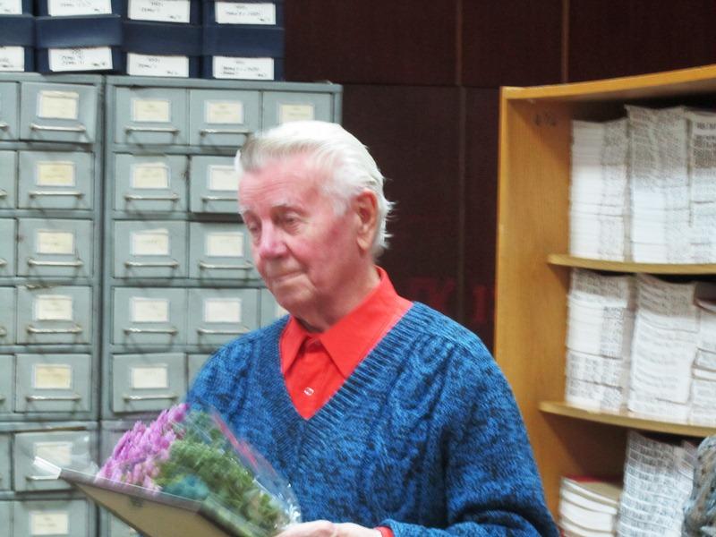 80-річний ювілей голови клубу Івана Юхимовича Саратова.